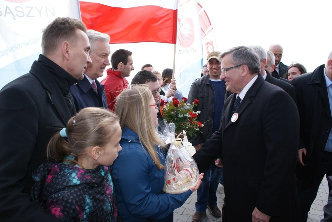 Ilustracja do informacji: Prezydent RP Bronisław Komorowski gościł w Zbąszyniu