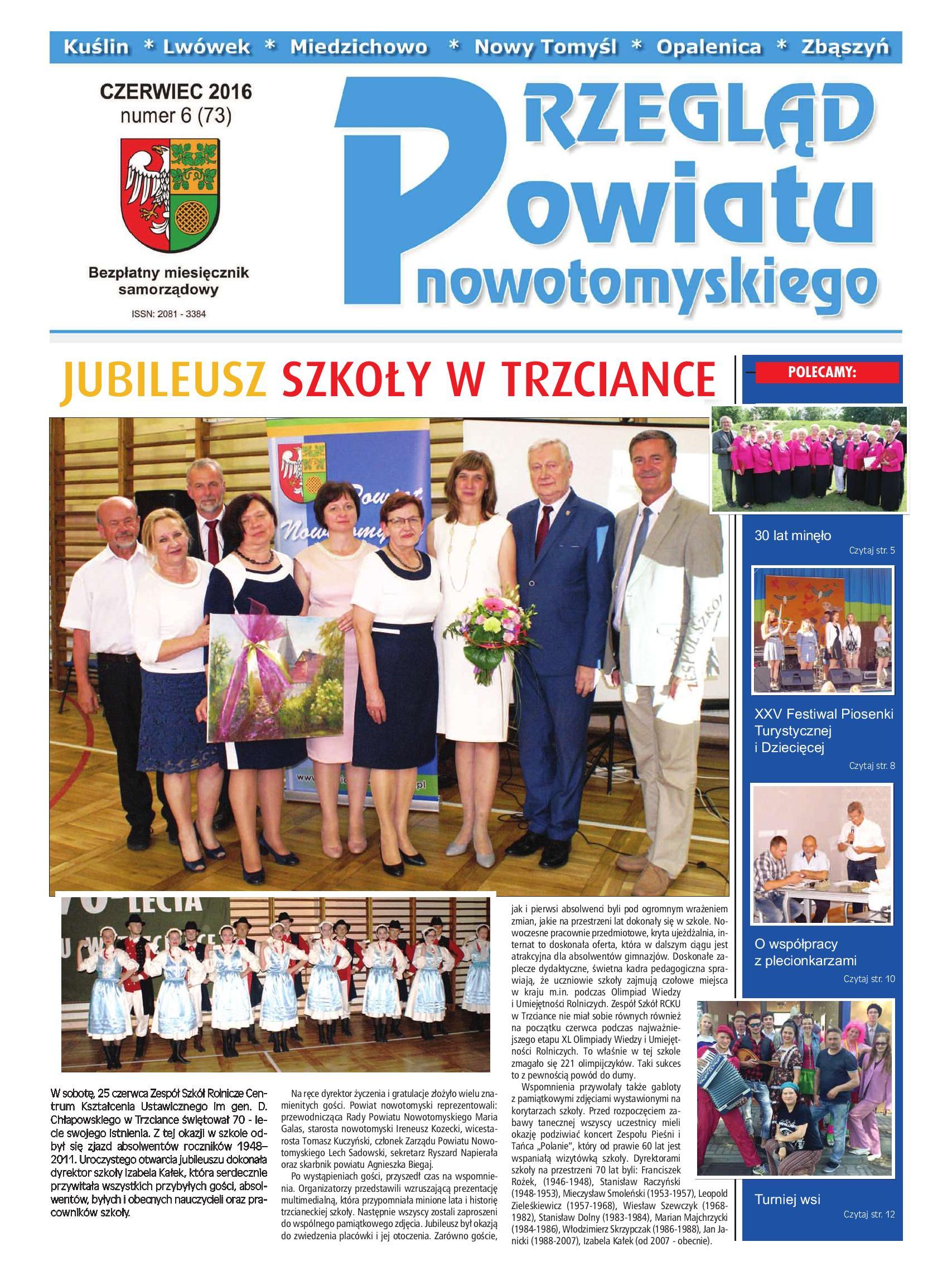 """Ilustracja do informacji: Czerwcowy """"Przegląd Powiatu Nowotomyskiego"""""""