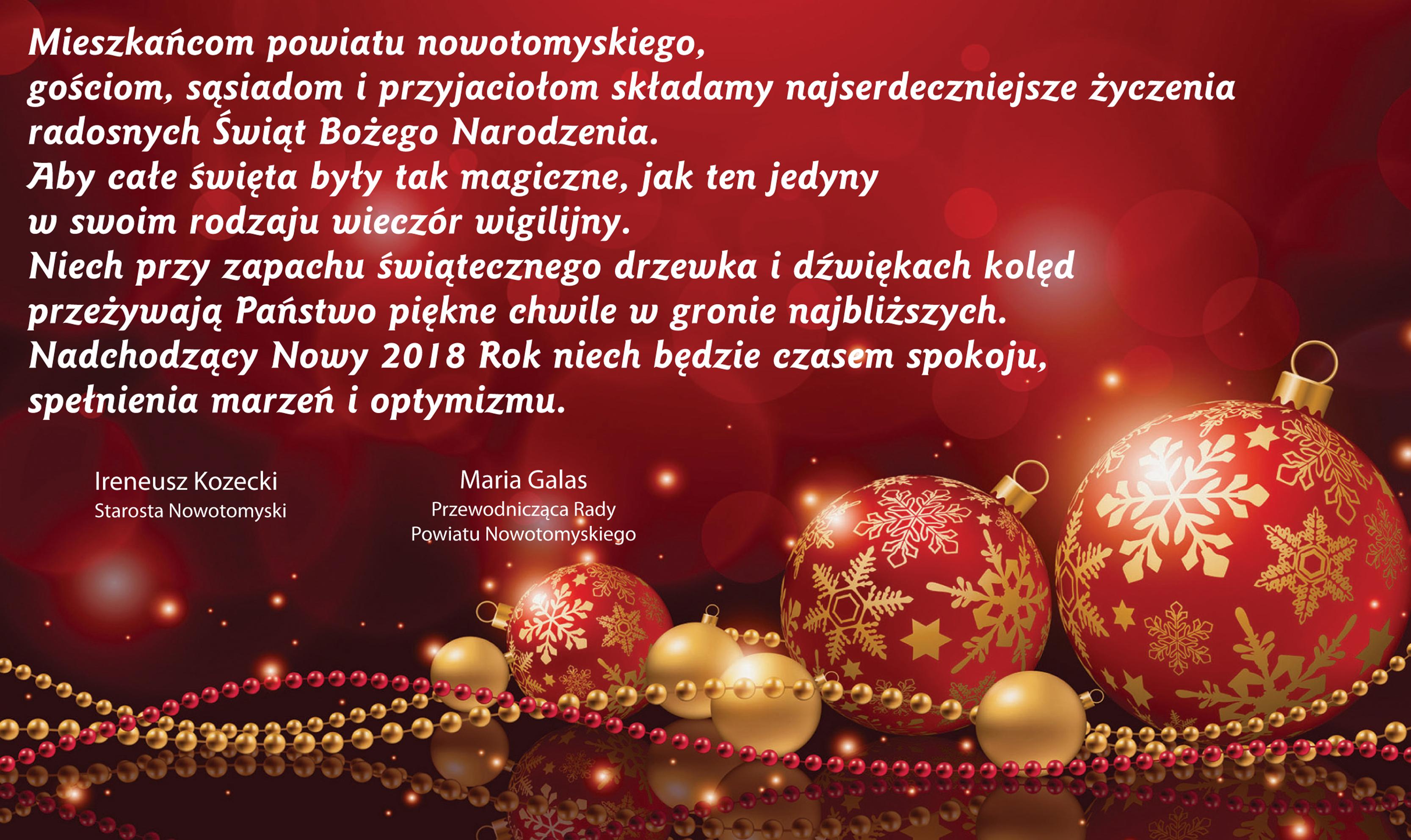 Ilustracja do informacji: Życzenia Bożonarodzeniowe