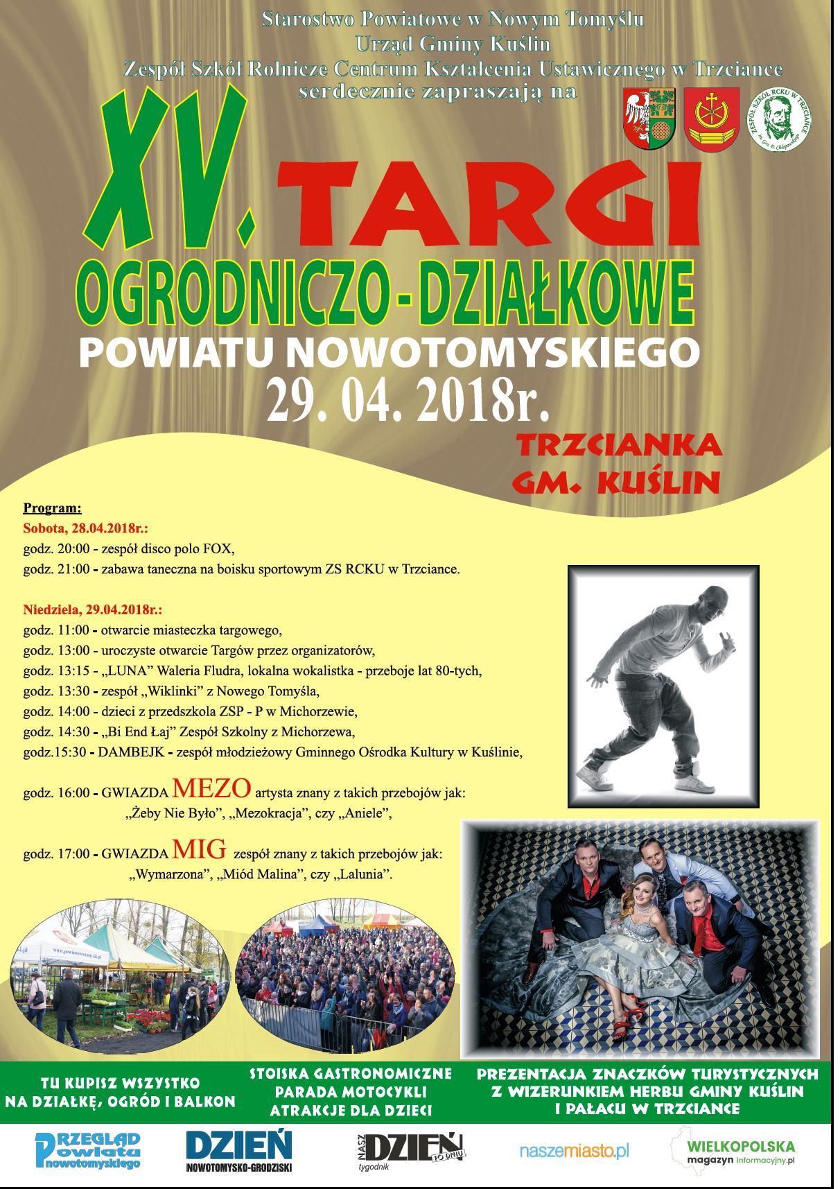 Ilustracja do informacji: Zapraszamy na Targi Ogrodniczo - Działkowe Powiatu Nowotomyskiego w Trzciance!