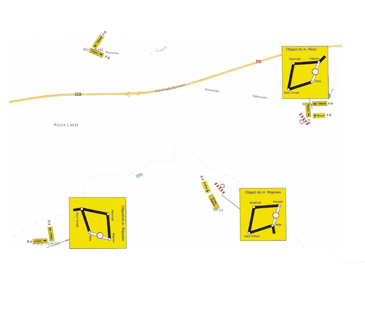 Ilustracja do informacji: Utrudnienia w ruchu