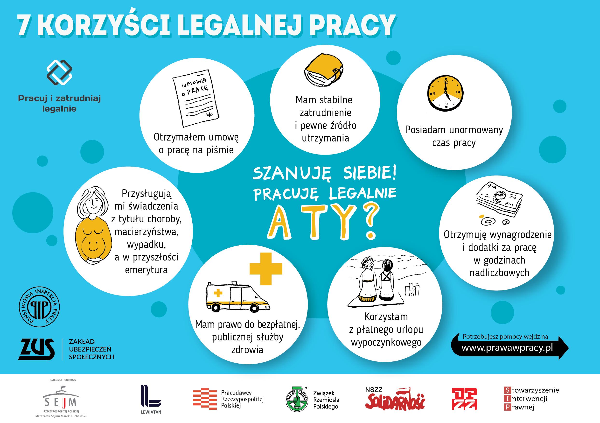"""Ilustracja do informacji: Kampania informacyjna """"Pracuję legalnie"""""""