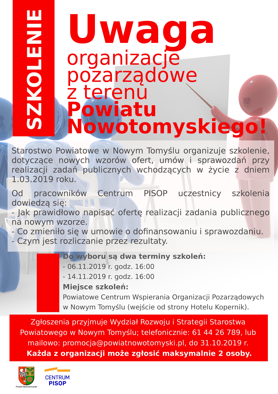 Ilustracja do informacji: Organizacje Pozarządowe - SZKOLENIE