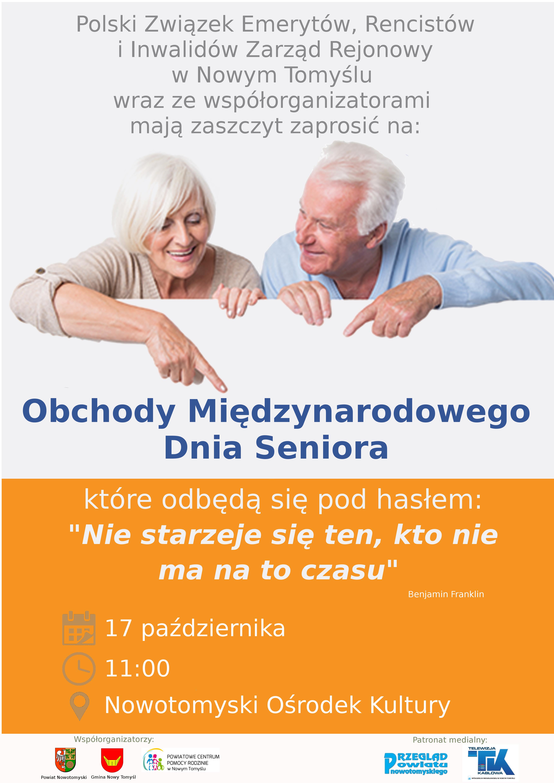 Ilustracja do informacji: Zapraszamy na Obchody Międzynarodowego Dnia Seniora