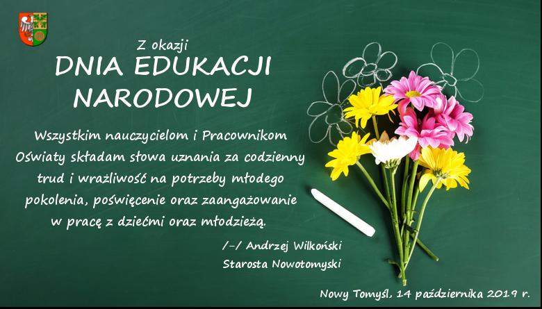 Ilustracja do informacji: Dzień Edukacji Narodowej
