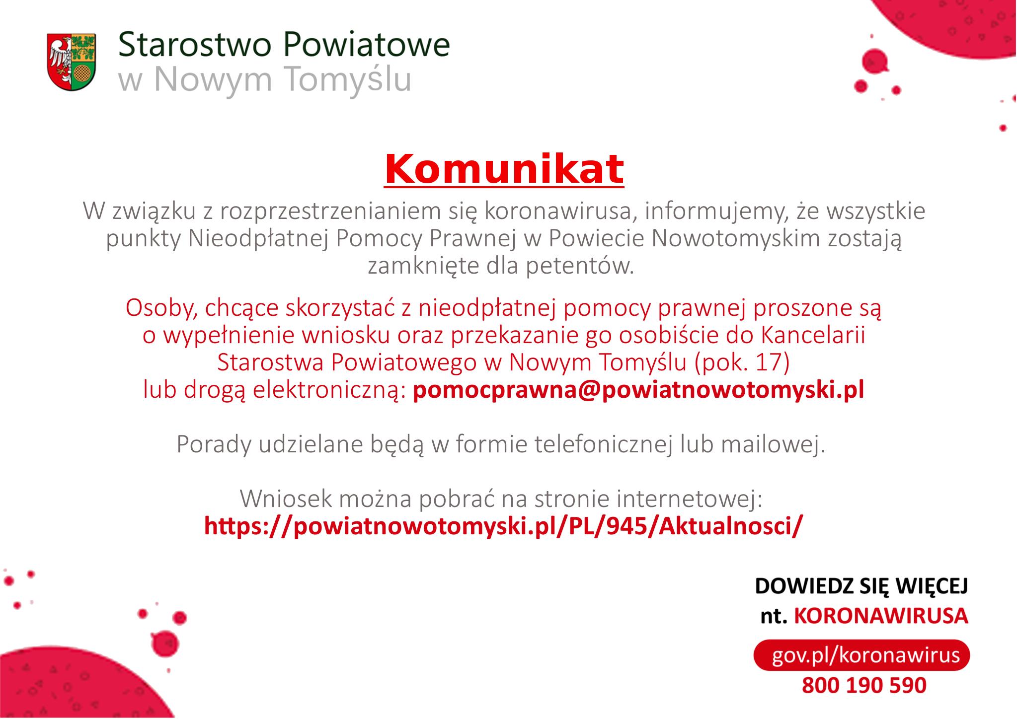 Ilustracja do informacji: Zmieniona forma udzialania nieodpłatnej Pomocy Prawnej