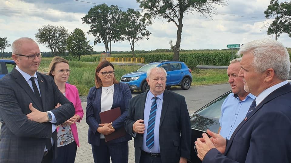 Ilustracja do informacji: O inwestycjach drogowych z Wojewodą Wielkopolskim