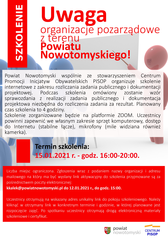 Ilustracja do informacji: Uwaga organizacje pozarządowe z terenu Powiatu Nowotomyskiego!