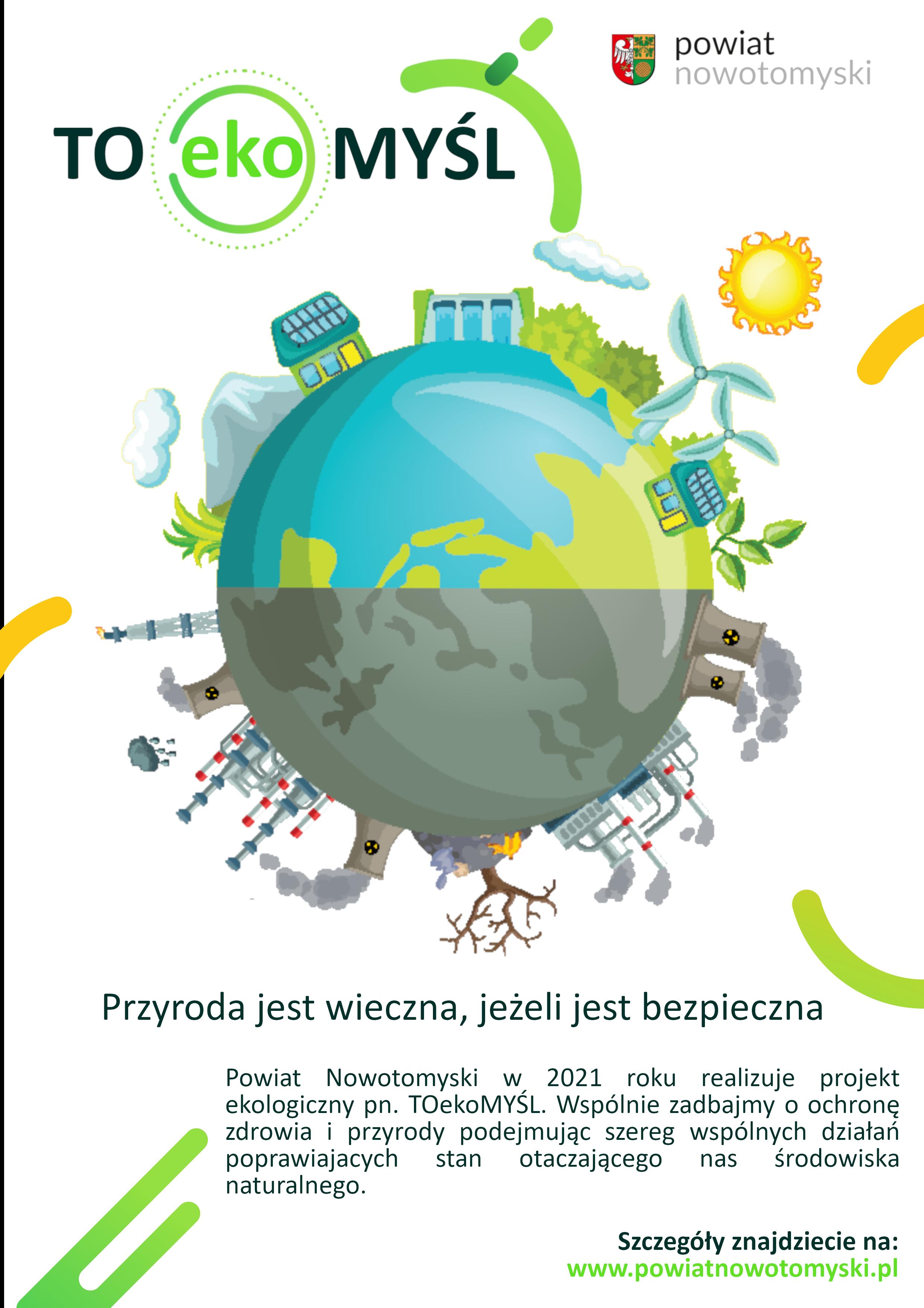 Ilustracja do informacji: TOekoMYŚL - projekt na ekologiczny rok w Powiecie Nowotomyskim