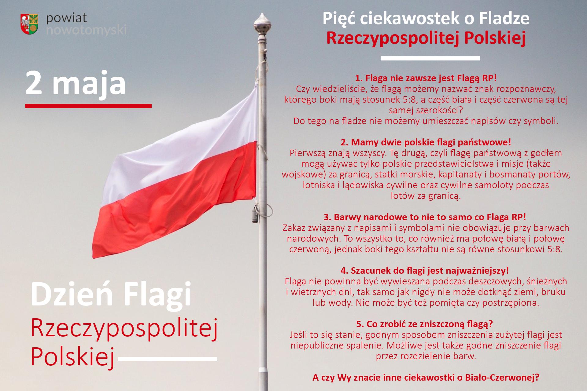 Ilustracja do informacji: Dzień Flagi Rzeczypospolitej Polskiej.