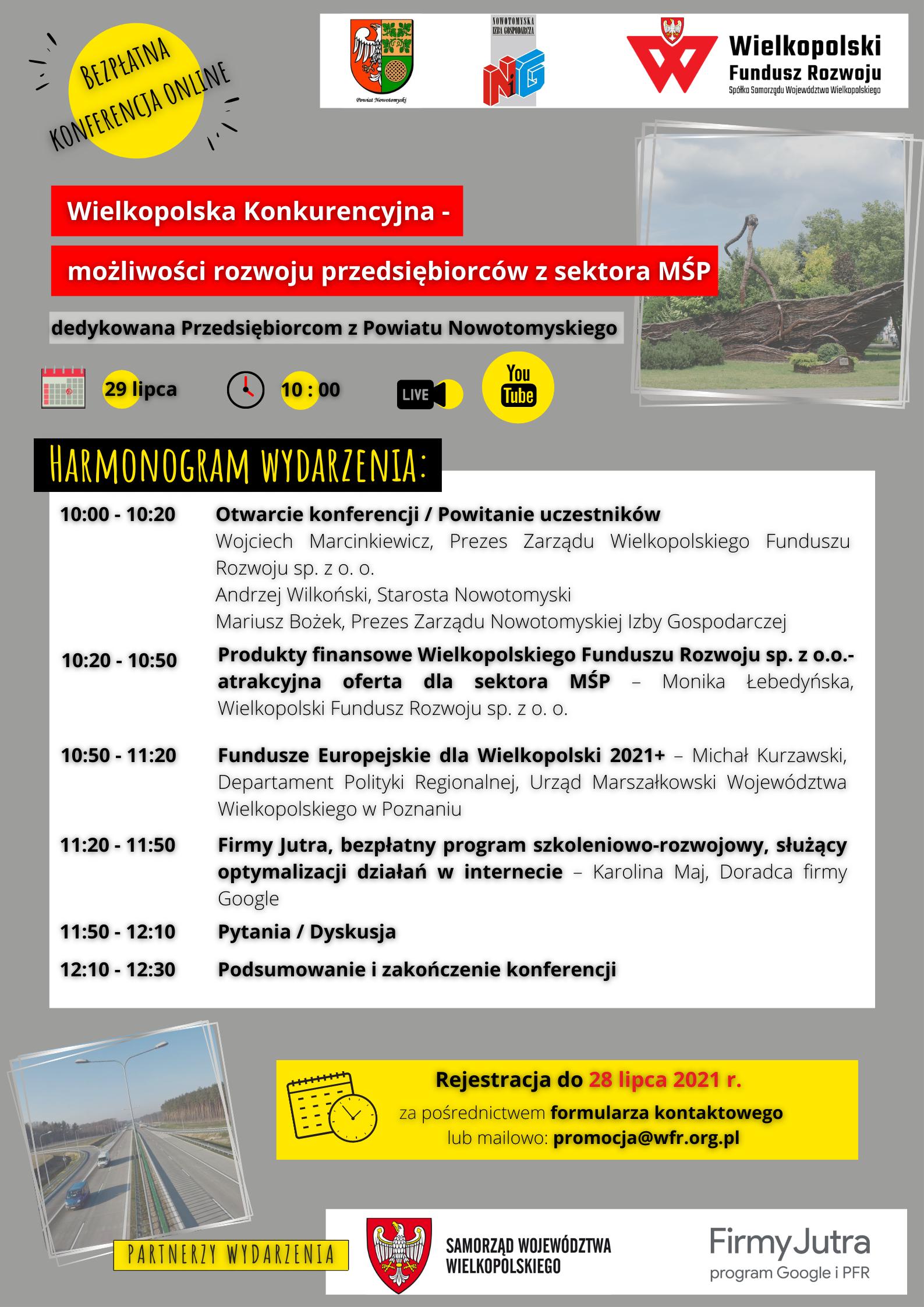 Ilustracja do informacji: Konferencja online dla przedsiębiorców