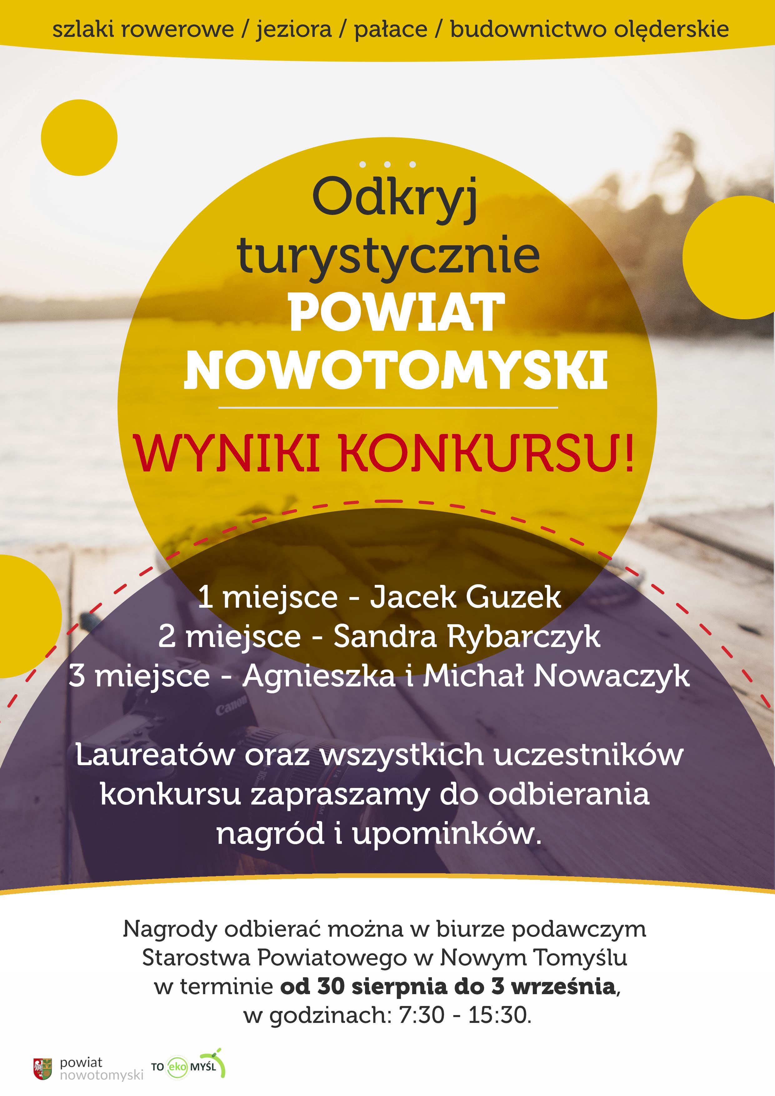 """Ilustracja do informacji: Wyniki konkursu """"Odkryj turystycznie Powiat Nowotomyski"""""""