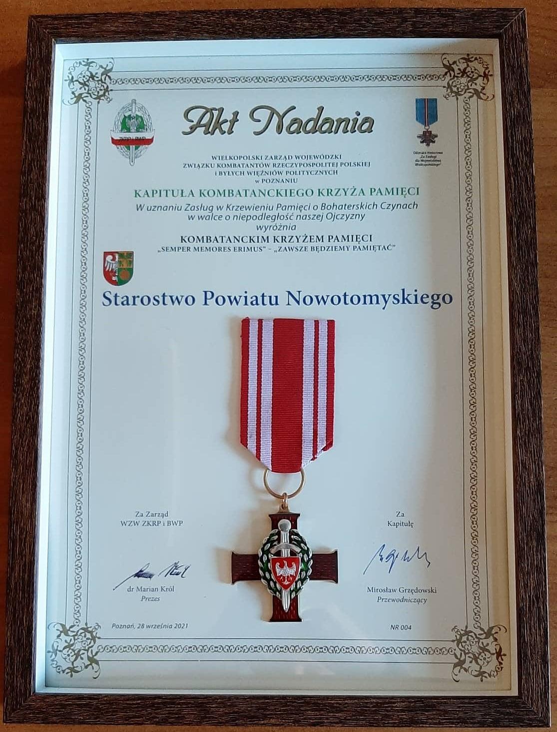 """Ilustracja do informacji: """"Semper memores erimus"""" dla Starostwa Powiatowego w Nowym Tomyślu"""