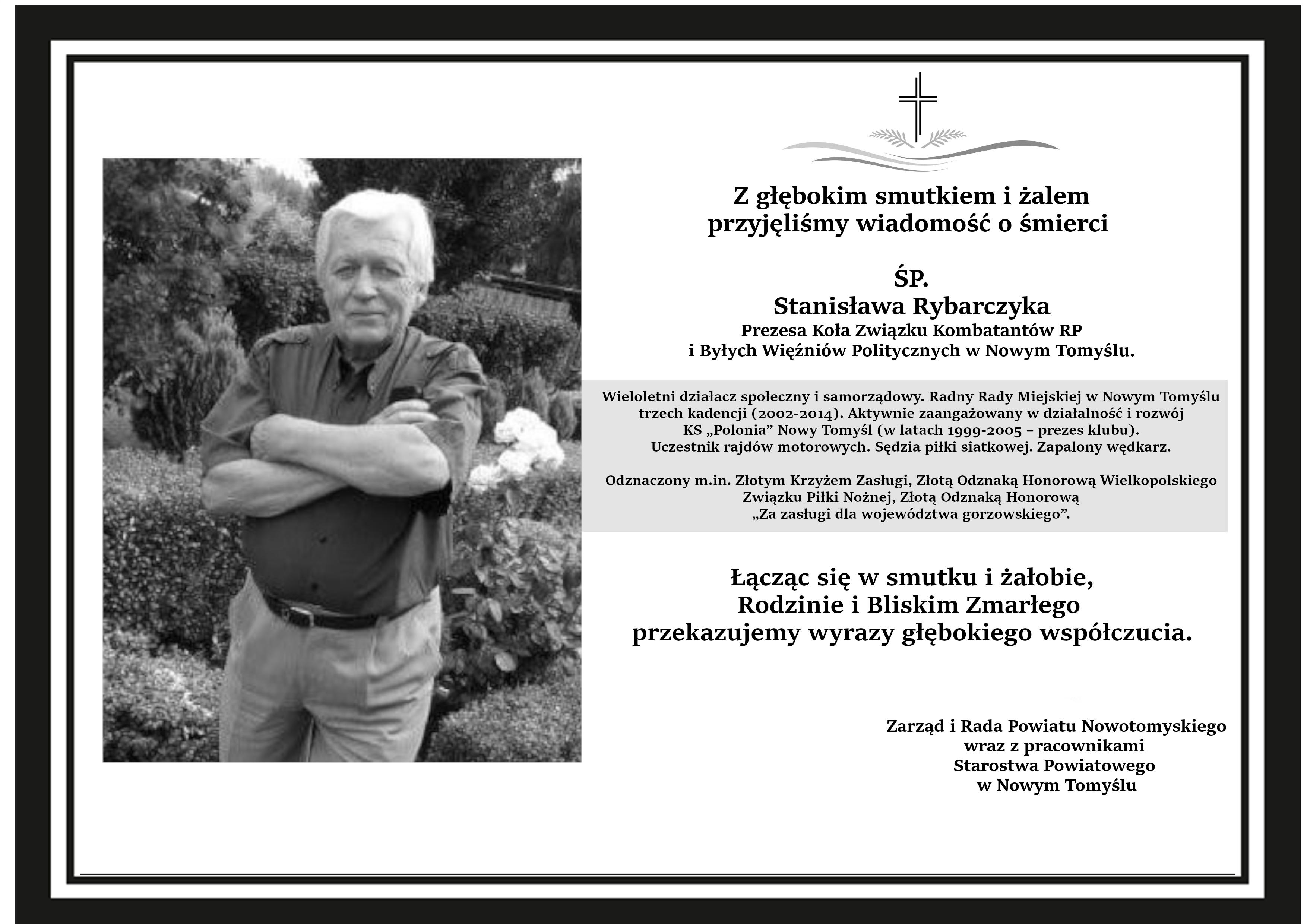 Ilustracja do informacji: Odszedł Stanisław Rybarczyk